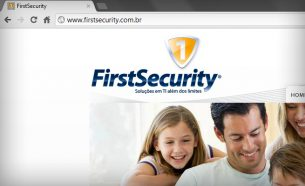 FirstSecurity brought to Brazil several innovations, including products and software solutions. The company had its visual identity developed by A.Companhia.