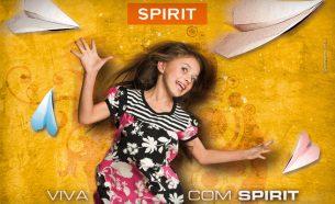 """Baseados no conceito """"Viva com SPIRIT"""", A.Companhia desenvolveu uma série de aplicativos para o reposicionamento da marca, integrando várias mídias."""