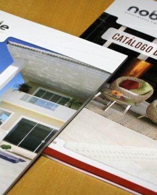 A Nobile Revestimentos teve a sua identidade visual e diversas peças de comunicação criadas pela A.Companhia.