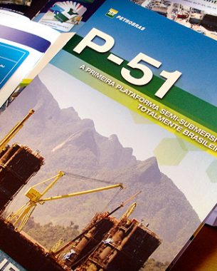 We have developed editorial pieces and booklets for the largest project developed by IEMS (Implementation of Marlin Sul Field Projects), the P-51 platform.
