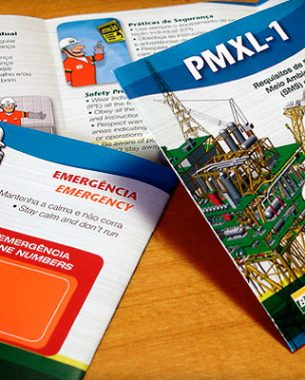 The IEMX (Implementation Projects for Mexilhão), had several graphic designs developed by A.Companhia.