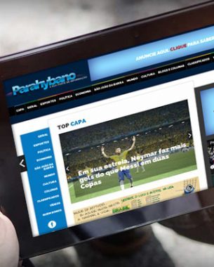 The Parahybano news portal, covering the northern region of the state of Rio de Janeiro, had its project created by A.Companhia.