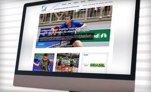 A.Companhia realizou o projeto de redesign do website da Confederação Brasileira de Tênis de Mesa.