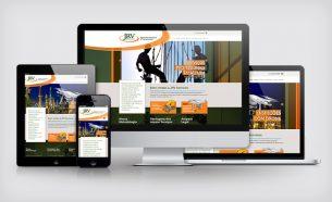 Projetos de comunicação, branding e conteúdo criados para a JRV Services Alpinismo Industrial e Treinamentos e Limpeza de Fachadas e Vidros em Altura.