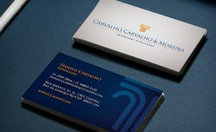 Carvalho, Carvalho & Moreira Advogados Associados teve sua identidade visual criada pela A.Companhia.