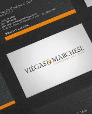 Viégas & Marchese Advogados Associados relied on A.Companhia for the creation of its visual identity.
