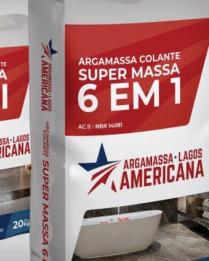 Criamos a identidade visual para a empresa Argamassa Americana e desenvolvemos a linha de embalagens para as argamassas produzidas pela empresa.