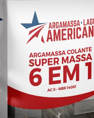 We created the visual identity for the company Argamassa Americana and developed the packaging line for the mortars produced by the company.