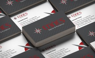 Ennes Seguros relied on A.Companhia to design its presentation and stationery material.