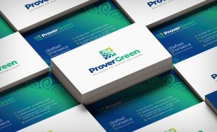 Prover Green had its visual identity created by A.Companhia, with the development of the brand and communication applications.