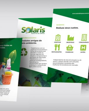 Solaris Limpeza has a partnership with A.Companhia for the development of its visual identity and the creation of communication projects.